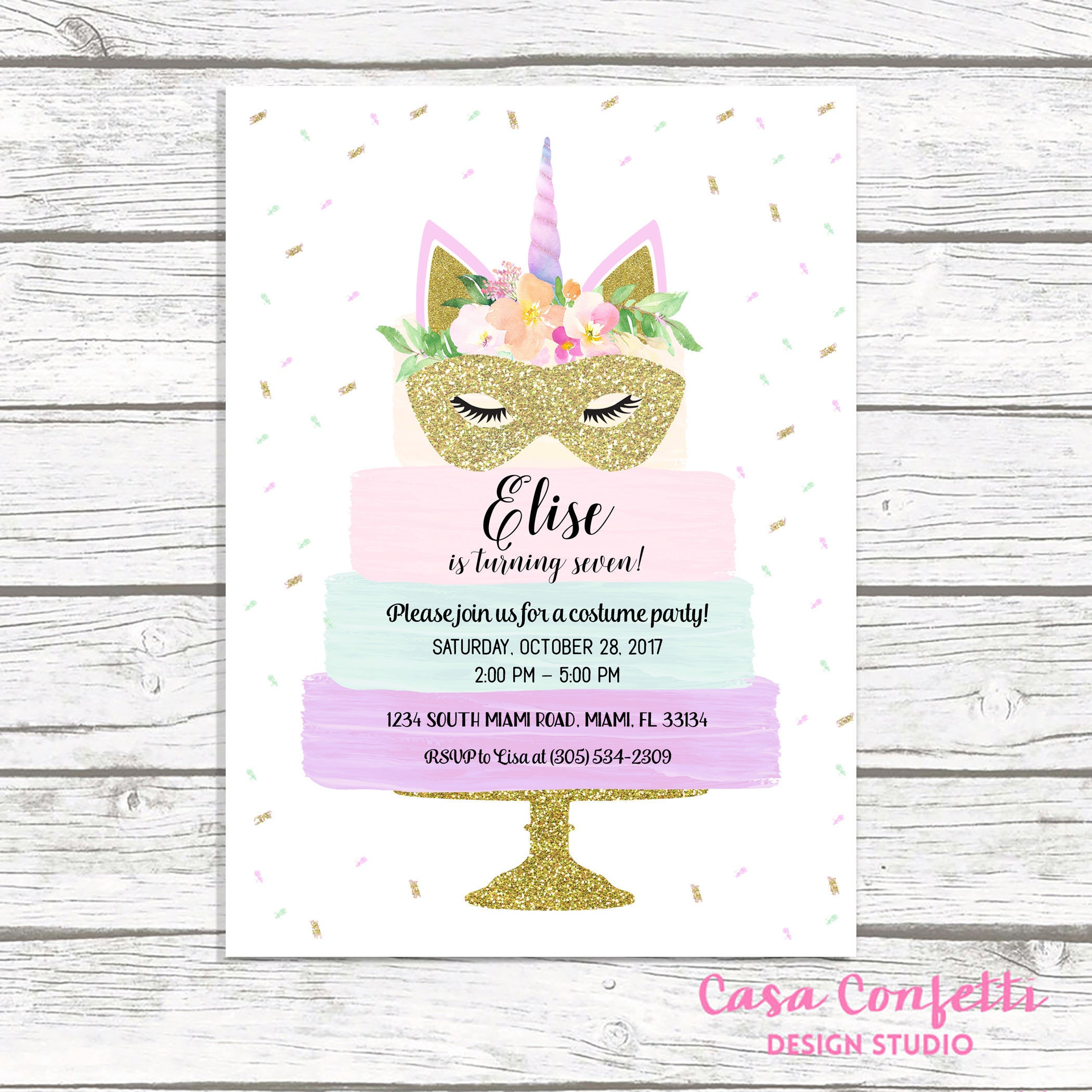 Halloween birthday invitation unicorn costume party invitation halloween birthday invitation unicorn costume party invitation unicorn halloween birthday invitation unicorn birthday invite kids party stopboris Choice Image
