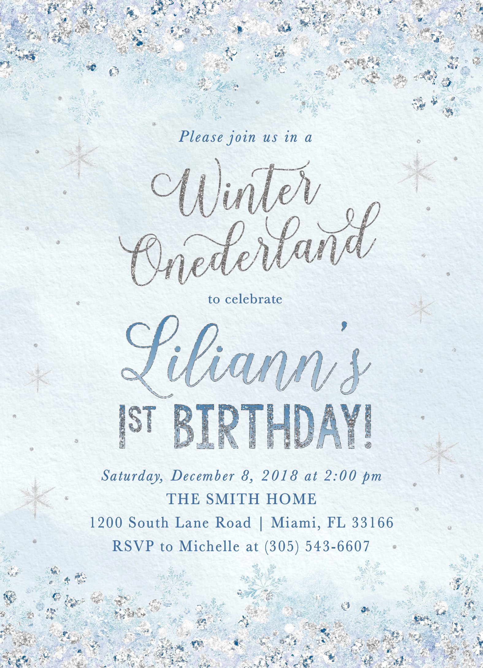 winter onederland invitation first birthday winter wonderland
