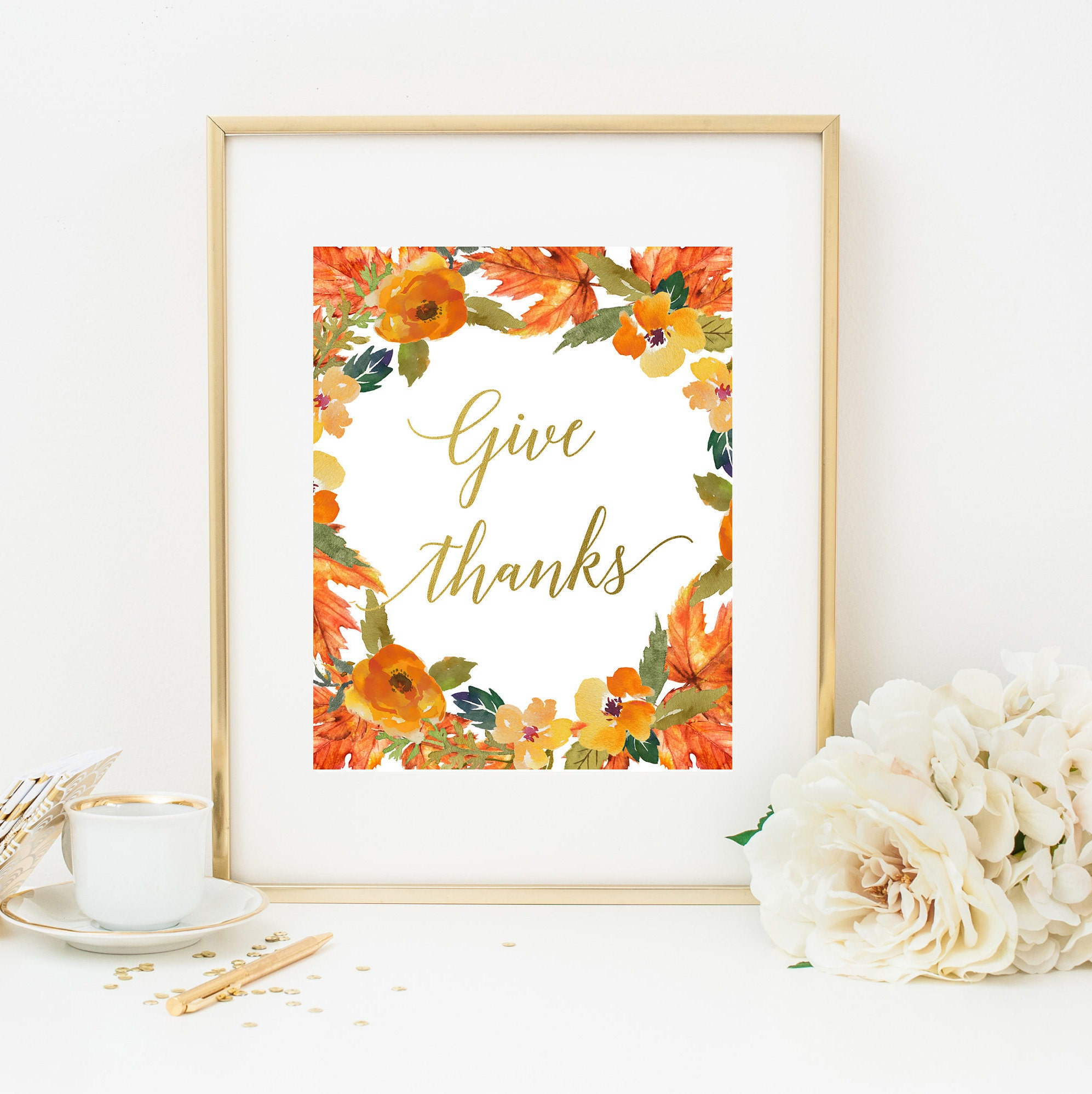 graphic relating to Give Thanks Printable referred to as Provide Owing Printable Wall Artwork, Tumble Wall Artwork, Deliver Because of