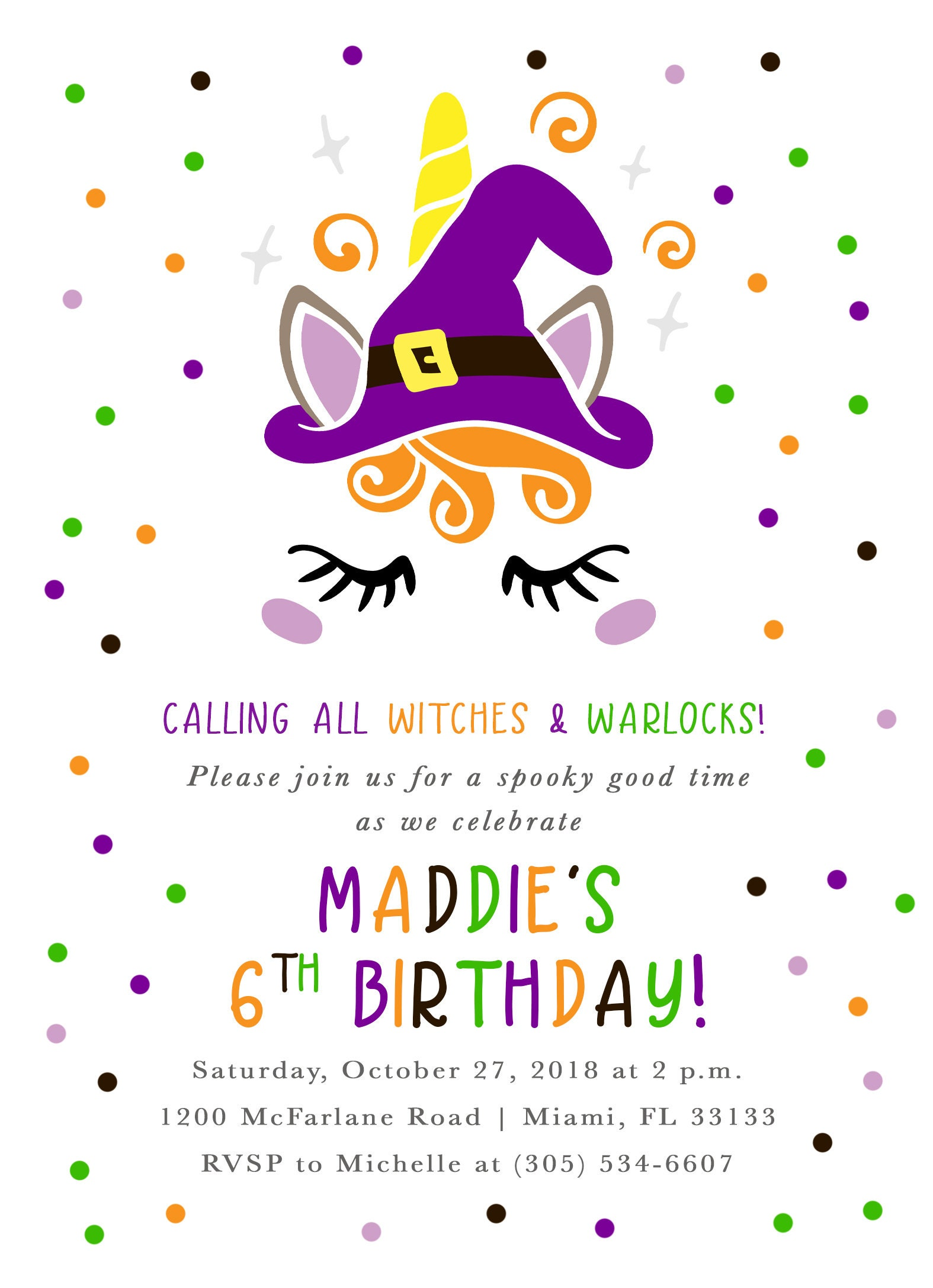 First Birthday Invitation Halloween Invite Gallery Photo