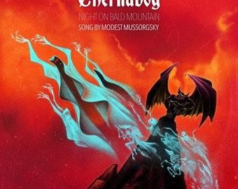 "Chernabog ""Bat Out OF Hell"" Illustration Art Print"