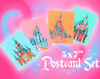 Disney Parks Castle (Illustration) Postcard Set