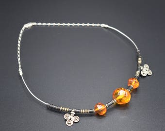 Amber and Coconut Choker