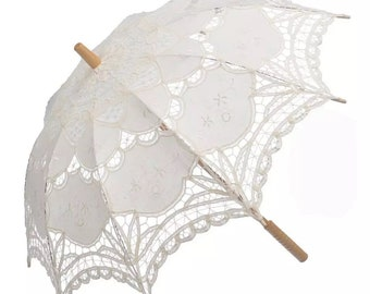 Parasol | Bridal Parasol | Vintage Umbrella | Lace Parasol | Bridesmaid Umbrella | Beige Wedding Umbrella