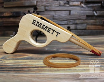 Personalized Rubber Band Gun Toy