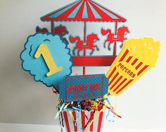 Circus Birthday Centerpiece, Carnival Party Centerpiece, Animal Centerpiece