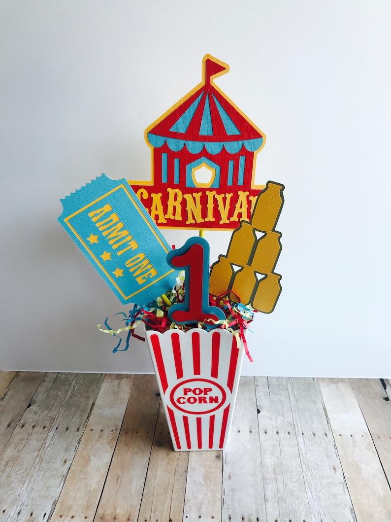 Carnival Birthday Party Centerpiece Circus Birthday image 0