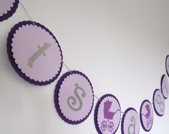 Purple Its a Girl Baby Shower Banner, Its a Girl, Stroller banner, Baby Shower Party Decoration