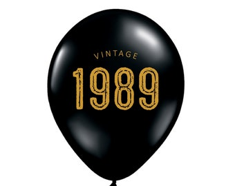 30th Birthday Decorations Balloons Decor Vintage 1989 Thirty Dirty For Him 30