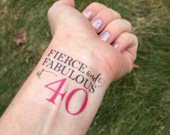 50 Ist Der Neue 25 Zweimal 50 Geburtstag Temporare Tattoo Etsy