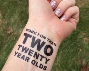 Two Twenty Year Olds Etsy