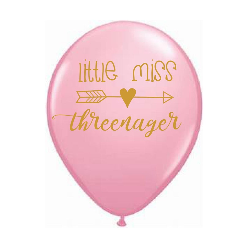 Little Miss Threenager 3rd Birthday Balloons