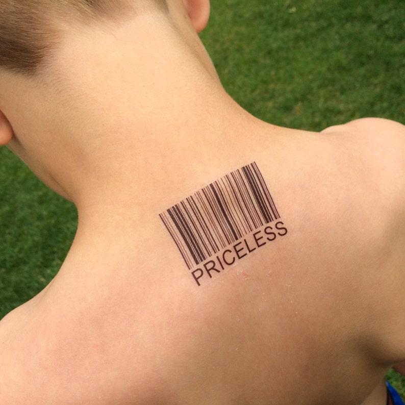 746135b0c Priceless Priceless Tattoo Barcode Tattoo Barcode UPC | Etsy