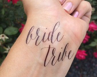 Bride Tribe, Team Bride, Temporary Tattoo, Fake Tattoo, Bachelorette Party, Bridal Shower Favor, Wedding Party Tattoo, Bachelorette Tattoos