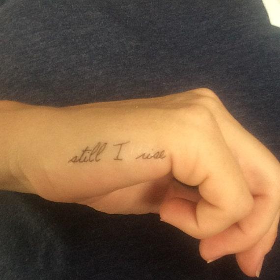 Nog Steeds Ik Rise Tattoo Vinger Tattoo Tijdelijke Tattoo Nep Tattoo Verjaardagsgift Motiverende Tattoo Nog Ik Stijgen Inspirerend Set Van 3