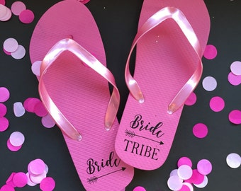 Bride Tribe Labels, DIY, Bridesmaid Gift, Bride Tribe Flip Flops, Bride Gift, Bridal Shower Gift, Bachelorette GIft, Bachelorette Party