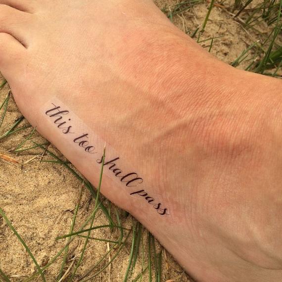 This Too Shall Pass Motivational Tattoo Inspiration Tattoo Etsy