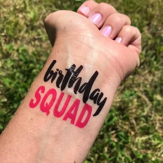 Geburtstag Kader Tattoo Geburtstag Mitbringsel Geburtstag Etsy