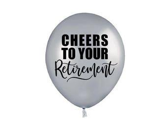 Retirement Balloons, Cheers To Your Retirement, Retirement Decoration, Retirement Ballloon, Retirement Party Decoration, Retirement Decor