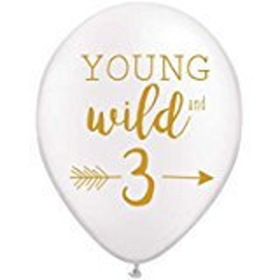 3rd Birthday Balloons Young Wild And Three