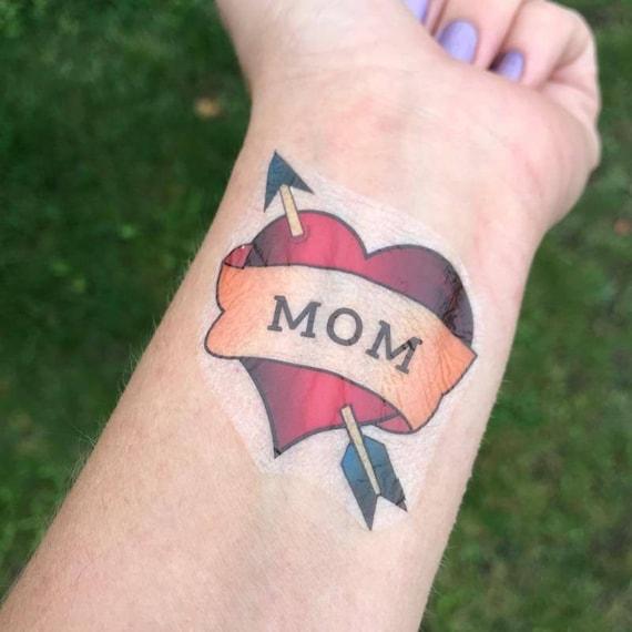 Maman Tatouage Tattoo Coeur Photo Prop Photo De Bebe Bebe Etsy