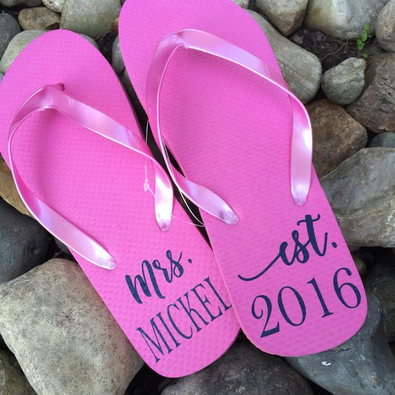 04307bdc627c13 Bride Labels DIY Project Bride Flip Flops Flip-Flops