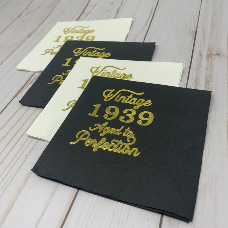 80th Birthday Napkins Decoration