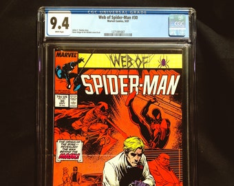 Web of Spiderman #30 CGC 9.4