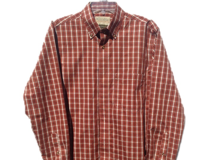 Men's Medium Cabela's Outfitter Series Plaid Shirt
