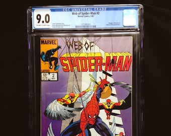 Web of Spiderman #2 CGC 9.0