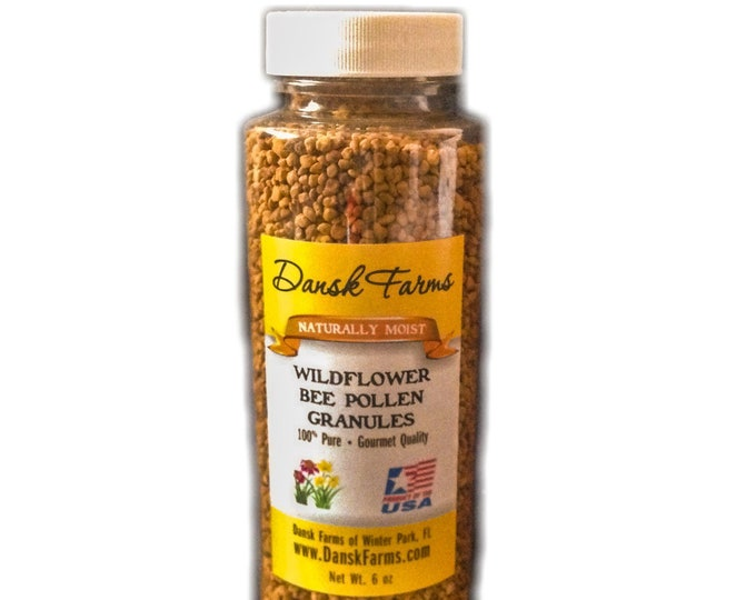 Wholesale Lot 12 Bottles | Wildflower Bee Pollen Granules 6 oz Wild Harvested