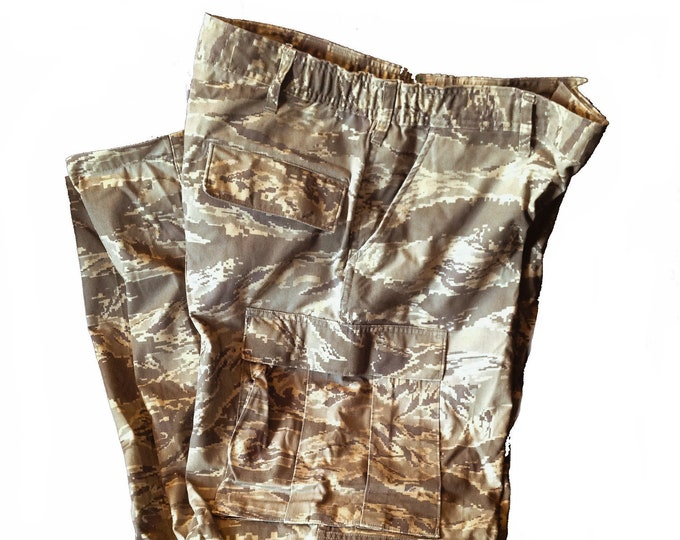 Authentic 38R Air Force ABU Pants Digital Tiger Stripe Camo Pattern