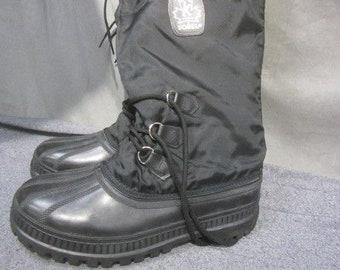 Men's Size 10 Snowbear Kaufman Sorel Snow Winter Work Boots Felt Lining Waterproof Made In USA