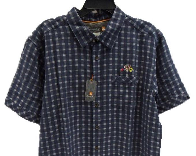 Men's Large Quicksilver Waterman Collection Plaid Shirt