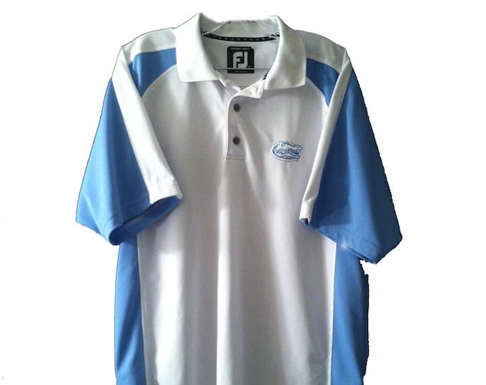 University of Florida Official Gators Athletic Shirt Foot Joy ProDry Golf Shirt Large