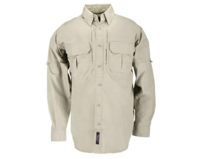 Men's Medium 5.11 Tactical GSA Long Sleeve Tactical Shirt 72161 Khaki