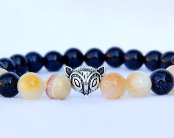 friendship gift friendship Jewelry friendship Bracelet sweet 16 gift fox Jewelry fox Bracelet aventurine Jewelry Onyx bracelet boho Jewelry