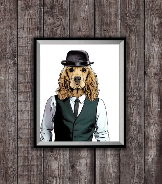 COCKER SPANIEL POSTER ANIMAL Unique Photo Art Print Gift Cat Dog Lovers