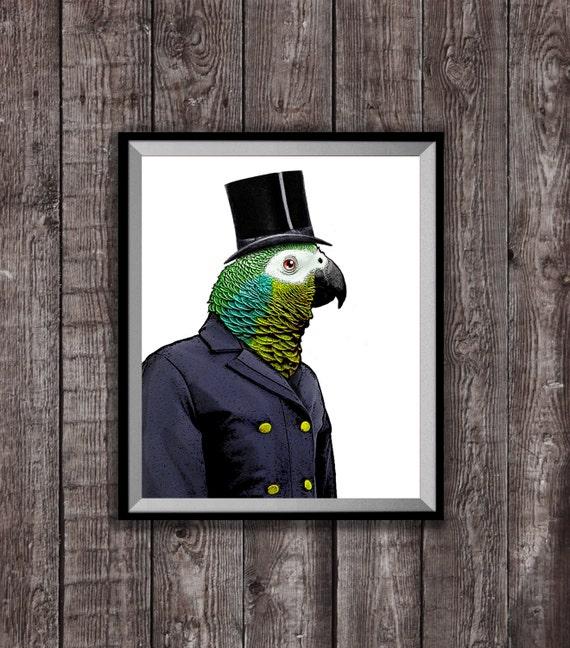 MASTER BEAKY Art Print Parrot Illustration Wall Decor