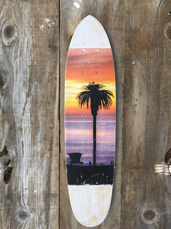 Skateboard Art: Lone Tree