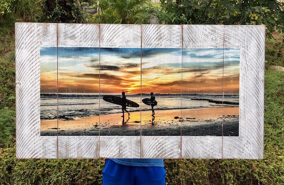 Surf Art: Sunset Surf  (Free Shipping)
