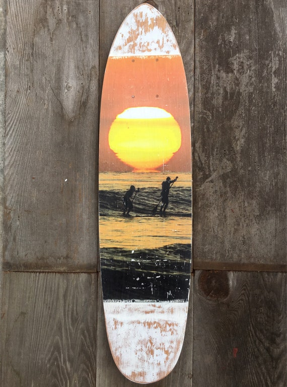 Skateboard Art: Sharing a Wave