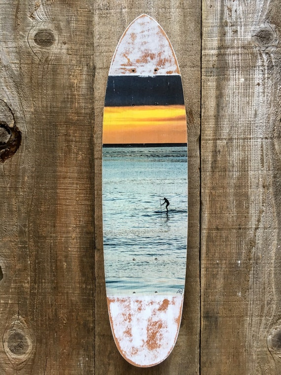 Skateboard Art: Lone Paddler