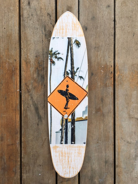 Skateboard Art: Surfer's Crossing