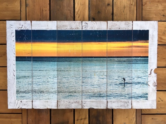 Surf Art: Lone Paddler  (Free Shipping)