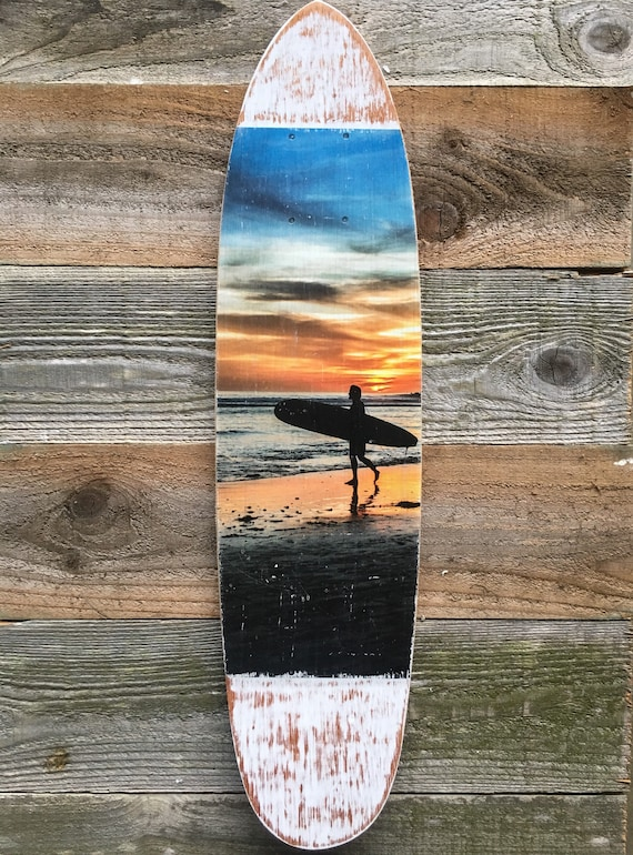 Skateboard Art: Sunset Surf