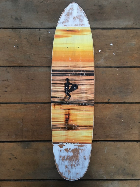 Skateboard Art: Surfer in Motion