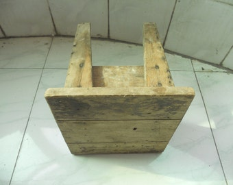 Old  wooden bench Old  Small  square stool  old  benches  old  trunks  SF01