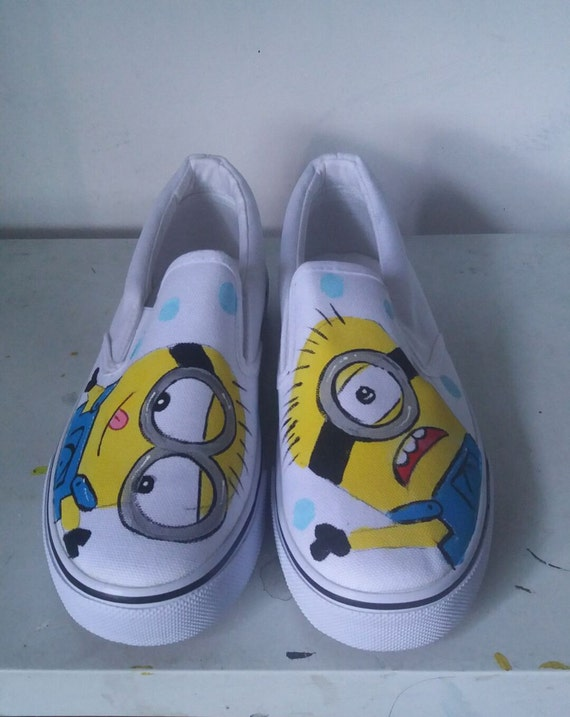 7dab329725 New Customize Minions Hand Painted Shoes Hand-painted