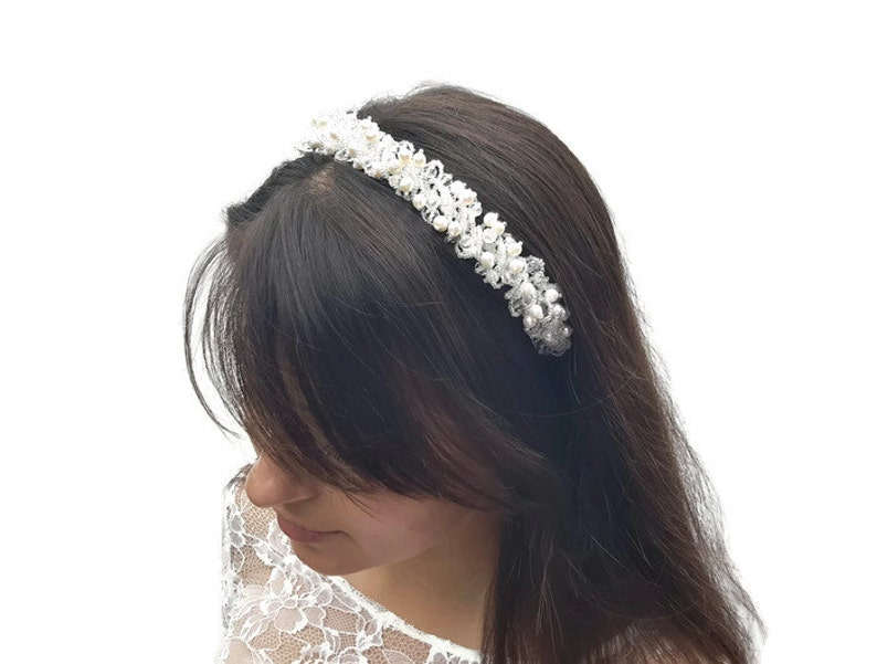 9932dae3417475 Ślub ozdoba Opaska do włosów Suknie ślubne wesele wesele włos | Etsy